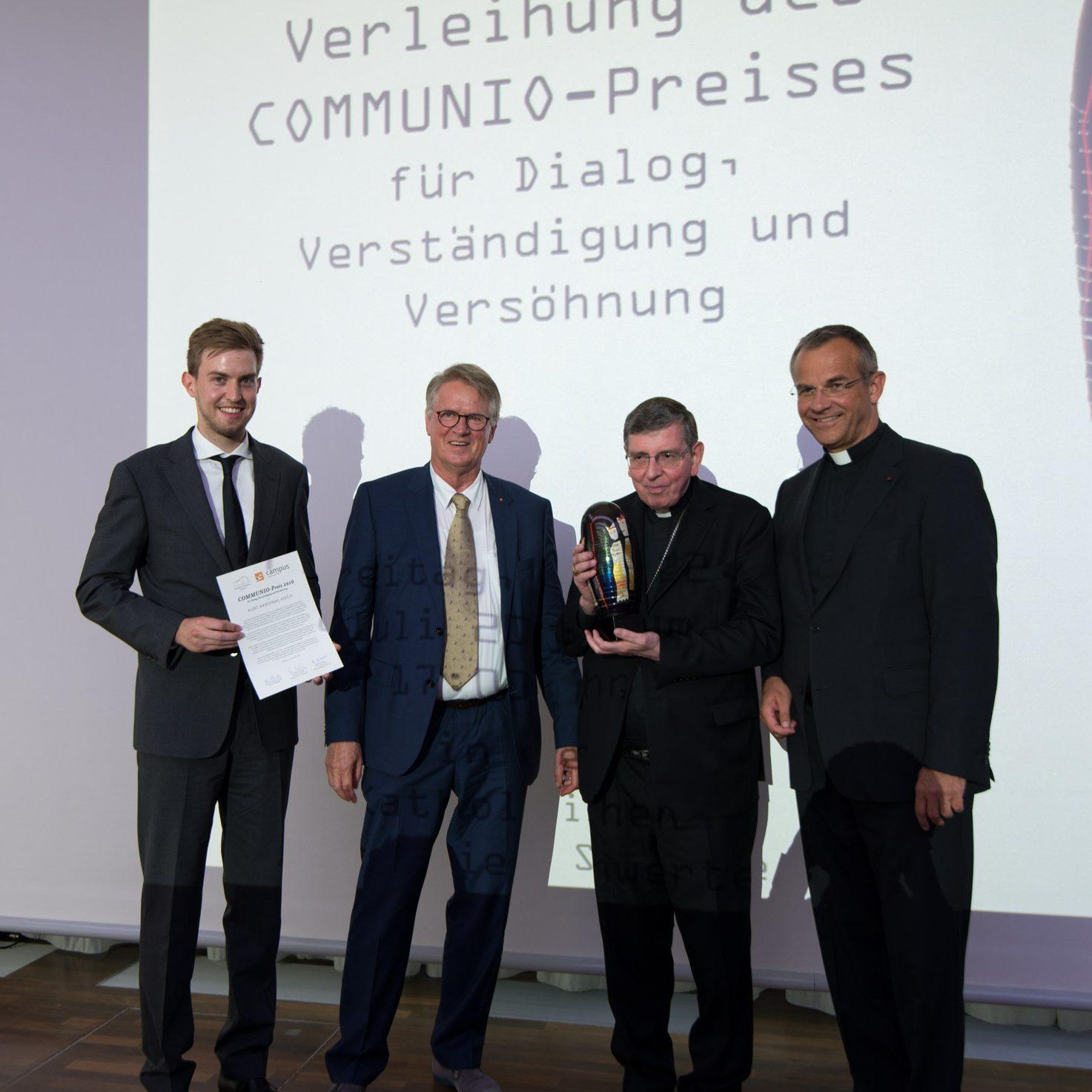 COMMUNIO-Preis für Kurt Kardinal Koch